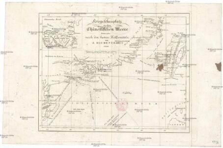 Kriegsschauplatz in dem Chinesischen Meere