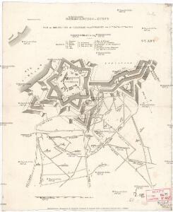 Plan der Belagerung der Citadelle von Antwerpen von 29ten Nov.r bis 23ten Dez.r 1832