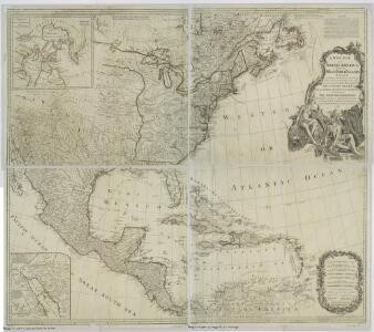 A New map of North America with the West India Islands : divided according to the preliminary articles of peace, signed at Versailles, 20, Jan. 1783, wherein are particularly distinguished the United States, and the several provinces, governments &ca