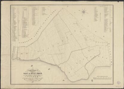 Kaart van de Oost en West Broek gelegen in de gemeente Velsen
