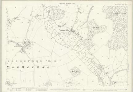 Suffolk LXIII.14 (includes: Glemsford; Long Melford; Stanstead) - 25 Inch Map