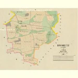 Dworetz (Dworec) - c1622-2-002 - Kaiserpflichtexemplar der Landkarten des stabilen Katasters