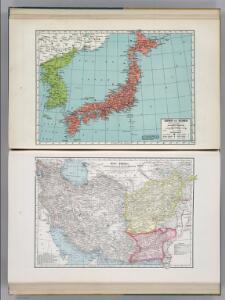 Japan and Korea.  Iran (Persia), Afghanistan, and Baluchistan.