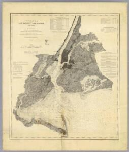 Coast Chart No. 20 New York Bay And Harbor, New York.