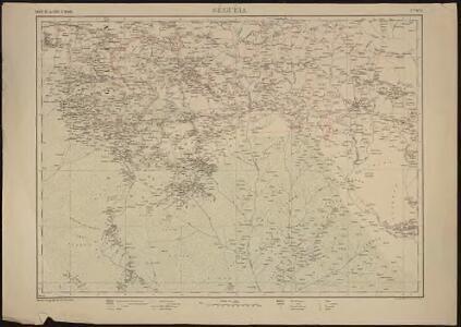 Carte de la Côte d'Ivoire dressée par A. Meunier. Séguéla