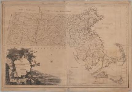 Map of Massachusetts proper : compiled from actual surveys made by order of the General Court