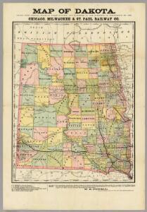 Map of Dakota.