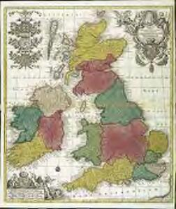 Tabula novissima accuratissima regnorum Angliæ, Scotiæ Hiberniæ