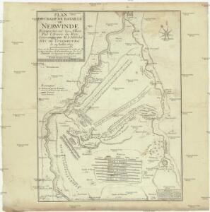 Plan du champ de bataille de Nerwinde remportée sur les alliez par l'Armée du Roy, comandée par M. le Maréchal duc de Luxembourg le 29 Iulliet 1693