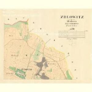 Zblowitz - m3572-1-002 - Kaiserpflichtexemplar der Landkarten des stabilen Katasters