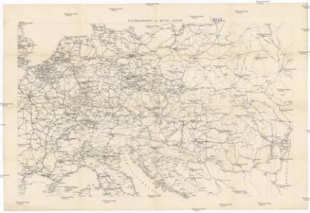 Eisenbahnkarte von Mittel-Europa