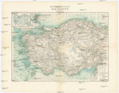 Übersichtskarte von Kleinasien