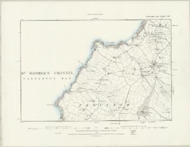 Caernarvonshire XXXIX.SW - OS Six-Inch Map