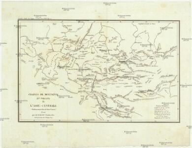 Chaines de montagnes et volcans de l'Asie-centrale (enfoneement du sol dans l'ouest)