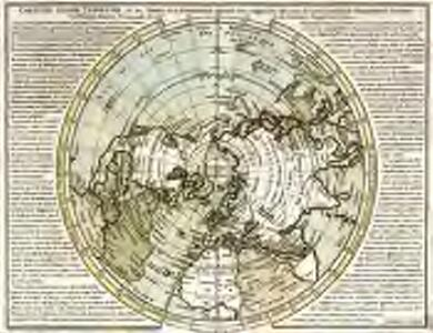 Carte du globe terrestre où les terres de l'hemisphere merid.l sont supposées être vues à travers celles de l'hemisphere septent.l