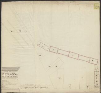 Platte grond van 's Lands Scheeps Timmerwerf te Rotterdam
