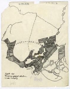 Karte der Pflanzungsgesellschaften (nach Moisel).