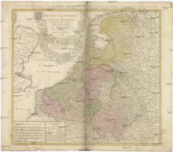 BELGII UNIVERSI seu INFERIORIS GERMANIAE quam XVII PROVINCIAE, Austriaco, Gallico et Batavo Sceptro parentes constituunt, nova Tabula Geographica