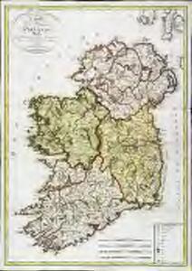 Carte du royaume d'Irlande