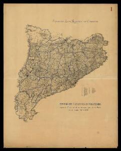 Divisió de Catalunya en vegueries segons el mapa editat en fracès per en G. Walk en el segle XVII ó XVIII