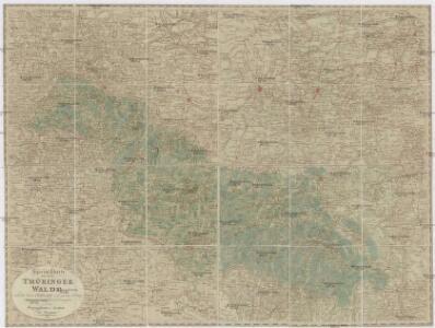 Special Charte von dem Thüringer Walde