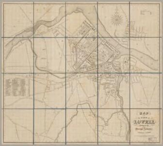 Map of the city of Lowell : surveyed in 1841 by order of the municipal authorities