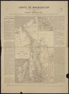 Carte de Madagascar publiée par le journal des débats
