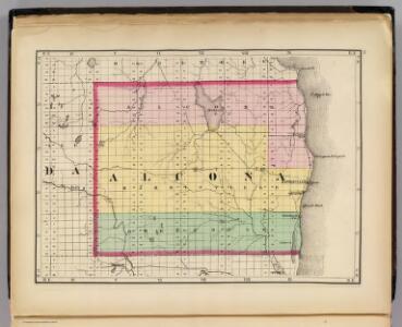 (Map of Alcona County, Michigan)