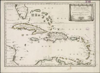 Les isles Antilles &c. entre lesquelles sont les Lucayes, et les Caribes