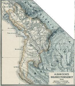Albanisches Insurrectionsgebiet 1444
