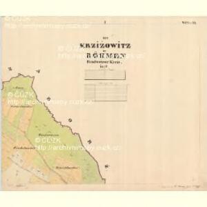 Krzizowitz - c3672-1-001 - Kaiserpflichtexemplar der Landkarten des stabilen Katasters