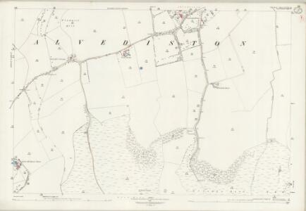 Wiltshire LXIX.16 (includes: Alvediston; Berwick St John; Ebbesbourne Wake) - 25 Inch Map