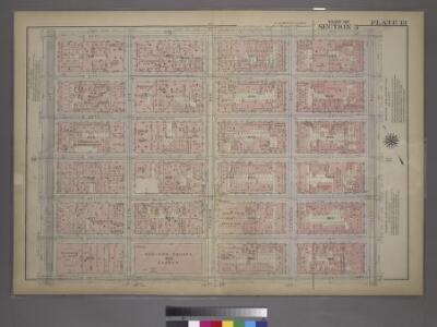 Plate 13, Part of Section 3: [Bounded by E. 32nd Street, Third Avenue, E. 26th Street and Fifth Avenue.]