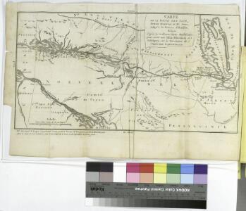 Carte de la route des lacs depuis Montréal et St. Jean jusqu'à la Riviere d'Hudson : réduite d'après les meilleures cartes anglais e[s], pour servir aux Essais historiques et politiques sur la révolution de l'Amérique septentrionale.