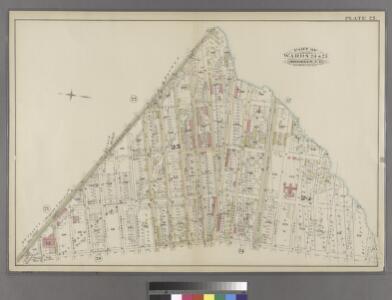 Plate 23: Part of Wards 24 & 25. Brooklyn, N.Y.