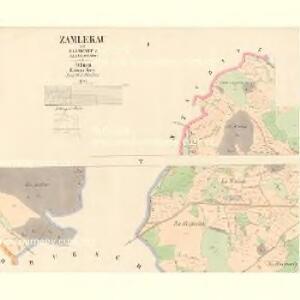 Zamlekau - c9165-1-001 - Kaiserpflichtexemplar der Landkarten des stabilen Katasters