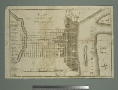 Plan of the city of Philadelphia.