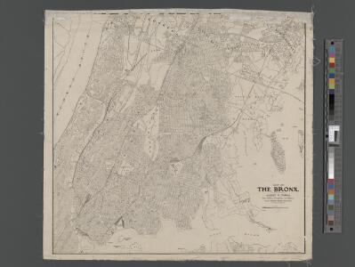 Map of the Bronx. [including part of Yonkers, Mount Vernon, and New Rochelle].