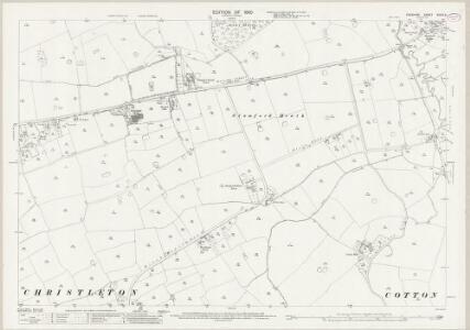 Cheshire XXXIX.9 (includes: Barrow; Christleton; Cotton Edmunds; Guilden Sutton; Littleton; Tarvin) - 25 Inch Map