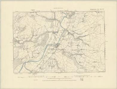 Montgomeryshire XIX.SW - OS Six-Inch Map