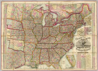 Watson's New County and Railroad Map of the United States.