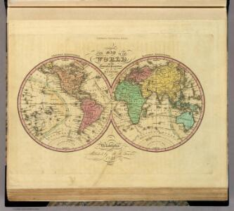 Map Of The World on the Globular Projection.
