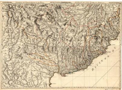 Environs de Barcelonette et de Beuil = Environs de Coni, Tende et Albenga