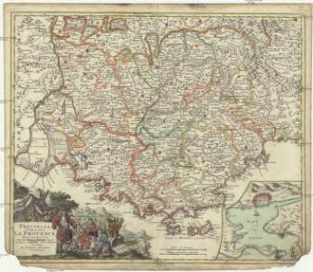 Provincia indigenis dicta la Provence divisa in omnes suos vicariatus seu praefecturas et terras adjacentes eidem subjectas