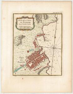 Plan de la ville de Palerme dans l'Isle de Sicile