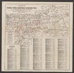 Karte der Schutzhäuser, Clubhütten, Alpenwirthshäuser und touristischen Stationen in den österreichischen und deutschen Alpenländern