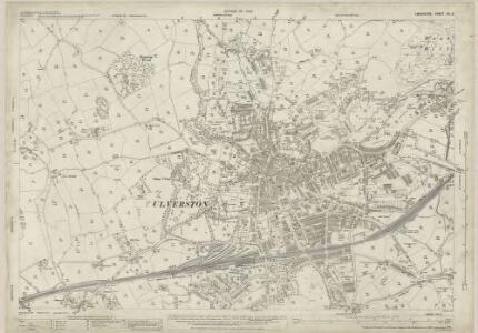 Lancashire XVI.3 (includes: Mansriggs; Osmotherley; Pennington; Ulverston) - 25 Inch Map