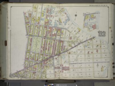 Brooklyn, Vol. 1, 2nd Part, Double Page Plate No. 35; Part of Wards 17 & 18, Section 9-10; [Map bounded by Calyer St., Newtown Creek, Richardson St. (Amos St.), Manhattan Ave., Meeker Ave.; Including Humboldt St., Nassau St., Jewel St., Meserole Ave.,...