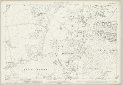 Essex (1st Ed/Rev 1862-96) LXV.3 (includes: Buckhurst Hill; Chingford; Woodford) - 25 Inch Map