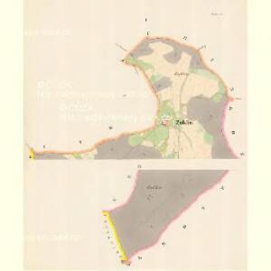 Zuklin - c9298-1-001 - Kaiserpflichtexemplar der Landkarten des stabilen Katasters